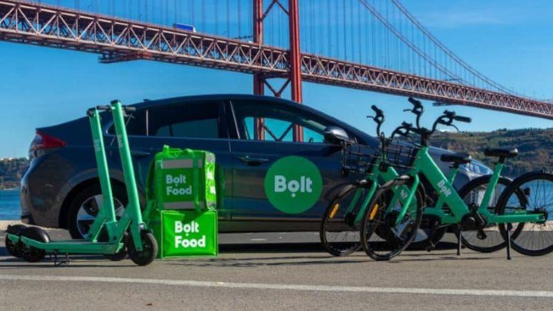 Bolt taxi in Portogallo