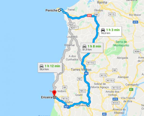 Posizione geografica Ericeira