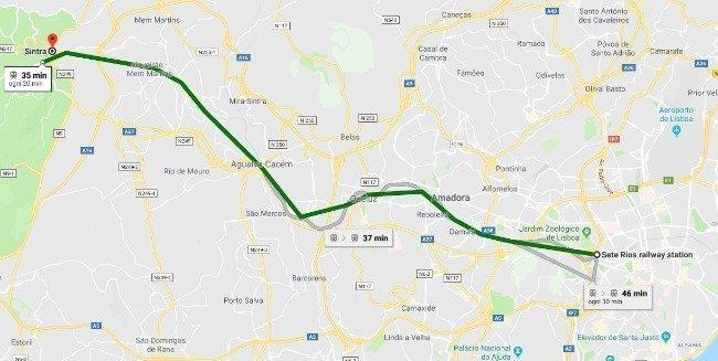 Metro Sete Rios - Sintra