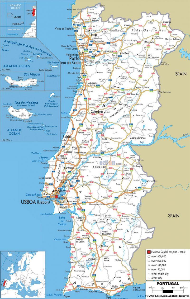 Cartina Geografica Algarve.Cartina Di Peniche In Portogallo Scopri Posizione Geografica