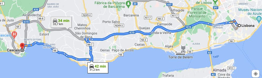 Itinerario IC 15 e Avenida Marginal_N6